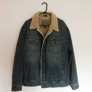 Vintage Arizona Jean Co. Jean Jacket w/ Fur Lining